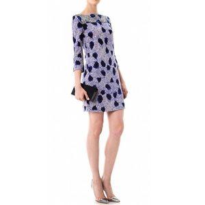 Diane Von Furstenberg Ruri Dress Blue Cheetah